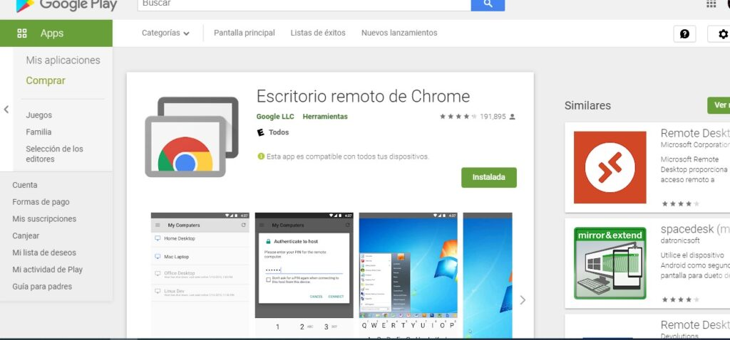 7 escritorio remoto google chrome